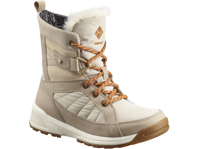 Columbia Meadows Shorty Omni-Heat 3D Bottes Femme, ancient fossil/bright copper